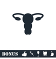 Ovaries icon flat vector image