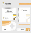 paint roller logo calendar template cd cover vector image