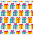 present gift box with ribbon background vector image vector image