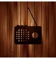 radio web icon wooden texture vector image