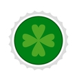 Rosette with four leaf clover icon vector image vector image