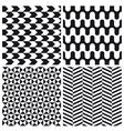 set patterns 4 vector image vector image
