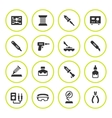 Set round icons of soldering vector image vector image