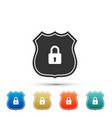 shield security icon isolated on white background vector image vector image