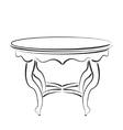 Sketched table Table sketch vector image vector image