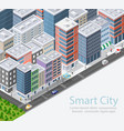 smart city isometric vector image vector image