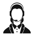 Support phone operator in headset icon vector image vector image