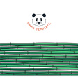 Template with bamboo Japanese background Bamboo vector image vector image