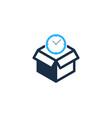 time box logo icon design vector image