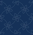 traditional indigo blue japanese needlework vector image