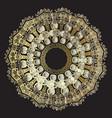 tribal ancient gold greek mandala pattern ornate vector image vector image