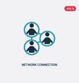 two color network connection icon from people vector image vector image
