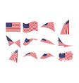 united states flag collection set graphic design vector image