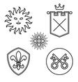 Vintage medieval design elements