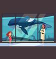 visit dolphinarium museum composition vector image vector image