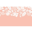 Wedding flowers and leaves horizontal seamless vector image vector image