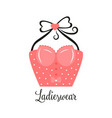 women fashion logo design template lingerie emblem vector image