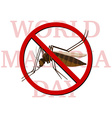 World malaria day poster with no mosquito vector image vector image