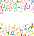 Rainbow Music Background vector image