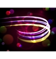 Abstract Background with Blurred Neon Lights vector image