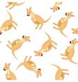 Seamless Funny Cartoon Kangaroo vector image