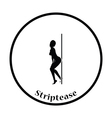 Stripper night club icon vector image