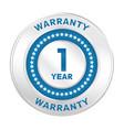 1 year warranty vector image