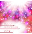 colorful blur happy valentine day card background vector image