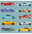 Sport car set vector image