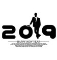 2019 happy new year businessman vector image vector image