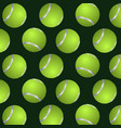 abstract background of tennis balls vector image vector image