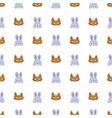 animal masks pattern on white background vector image vector image