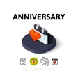 Anniversary icon in different style vector image