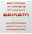 Arigato color typeface vector image vector image
