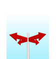 arrows and sky vector image vector image
