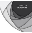 background with white and black color paper cut vector image vector image