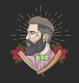 barber man vector image vector image