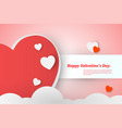 beautiful valentines day background with red vector image