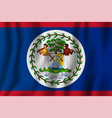 belize realistic waving flag national country vector image vector image