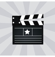 Black cinema clapper isolated vector image vector image