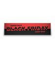 black friday sale 3d banner typographic modern vector image
