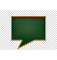 blank speech bubbles as a school blackboard vector image vector image