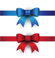 blue red ribbon bows vector image vector image
