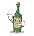call me wine bottle character cartoon vector image