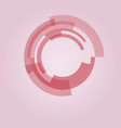 circle from pink rectangular abstract technology vector image