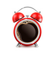 coffee alarm clock realistic vector image vector image