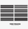 collection of eight tire tracks marks vector image vector image