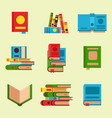 colorful book learn literature vector image