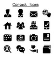 contact icons set for social network vector image vector image