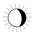 contour nice sun light ray weather vector image vector image